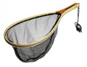 Wooden Landing Net Trout - No Kill Mesh (35x25cm)